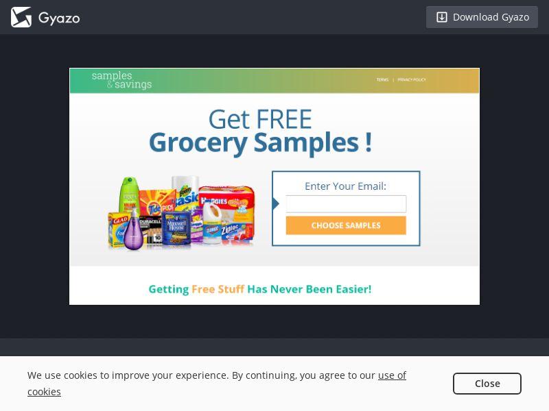 Samples and Savings - Groceries US | CPL