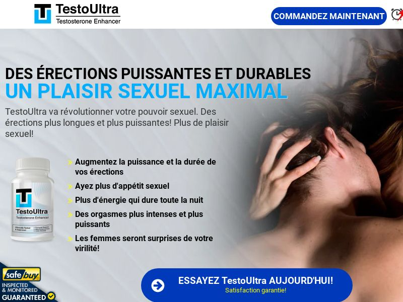 TestoUltra French w/ Magnumax Upsell [FR,BE,CH] (Social,Banner,PPC,Native,Push,SEO,Search)(No Email) - CPA