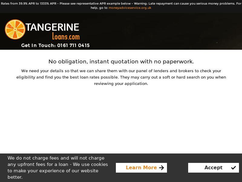 Tangerine Loans - UK