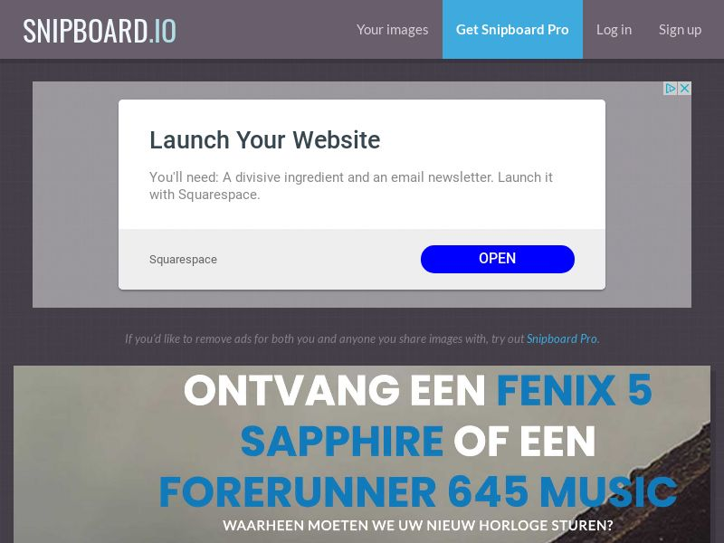 CoreSweeps - Garmin Watch NL - CC Submit