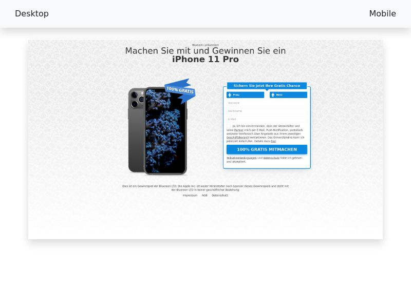 Win iPhone 11 PRO new - [CPL SOI] [DE, AT, CH]