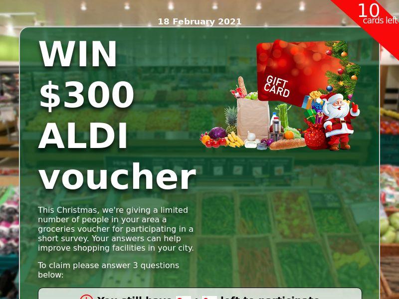 Win $300 Xmas Aldi Voucher - Sweeps - CPL - AU
