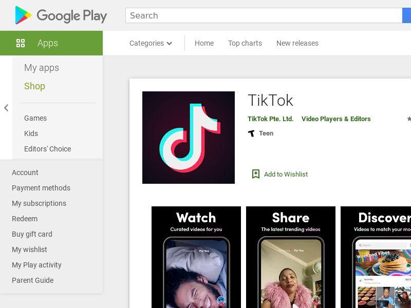 Tik tok Android US 2.3$
