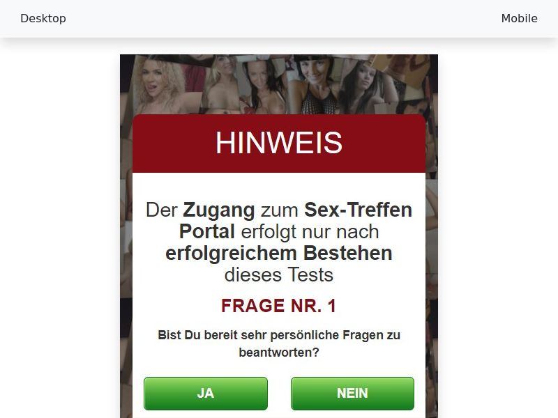 fickboerse24.com - [CPL SOI] - [WAP + WEB] - [DE] Male 18+