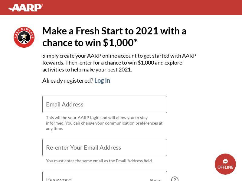 AARP $1000 Sweep - DOI - US