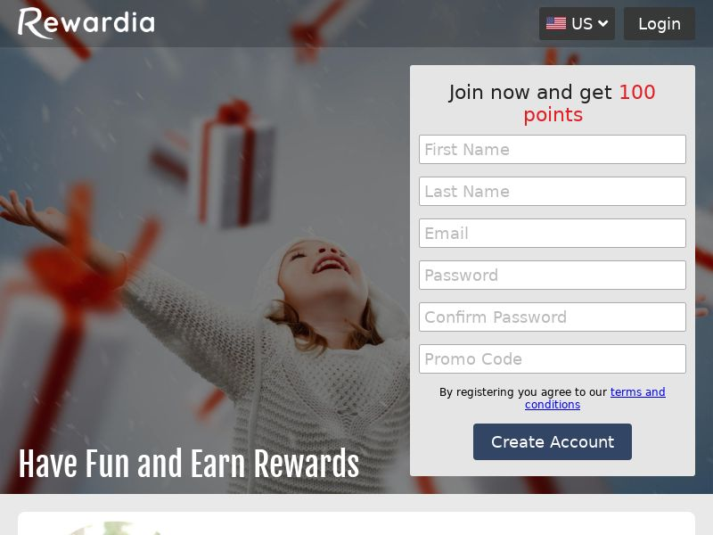 Rewardia - Earn Points for Playing Games & More - CPL   US