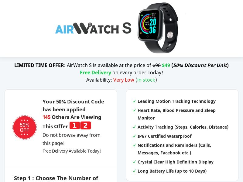 AirWatch S - 50% off Limited Time Offer