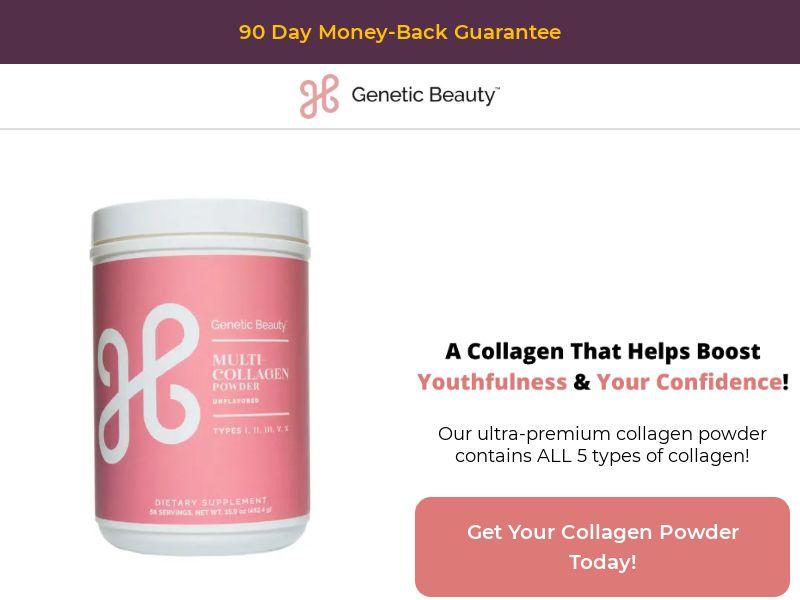 Collagen Powder - 40% Revshare - Desktop & Mobile [US] - Nutra