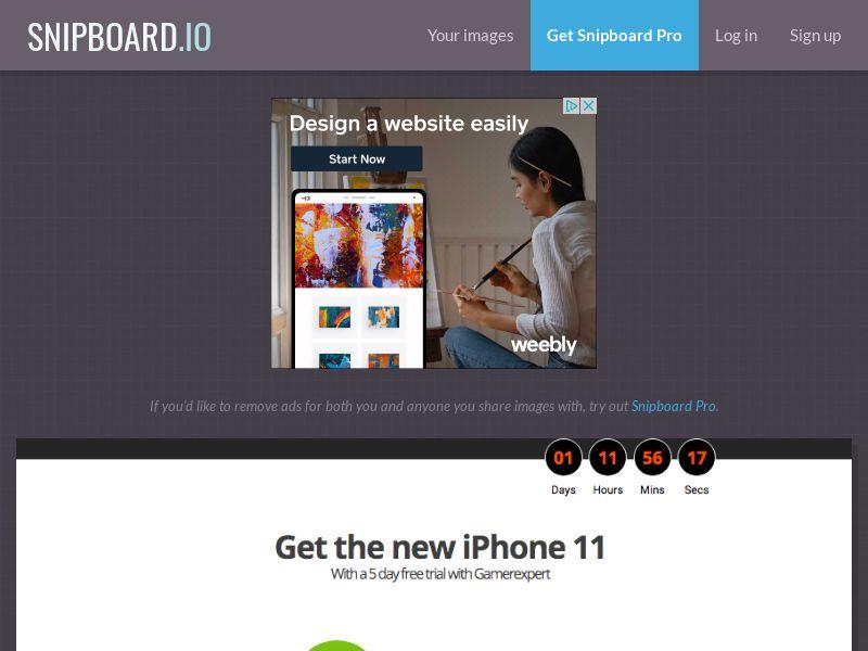 GamerExpert - iPhone 11 IT - CC Submit