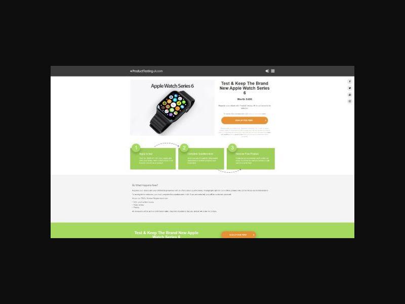 Product Testing - Apple Watch Series 6 (UK)