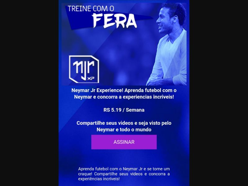 Neymar Experience - 2 clicks - BR - TIM - Other - Mobile