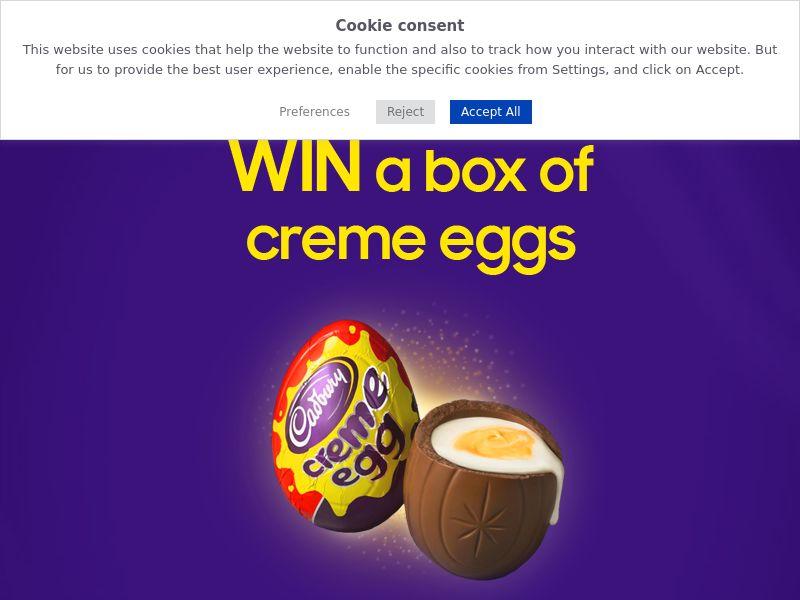 OfferX - Win A Box Of Creme Eggs [UK]