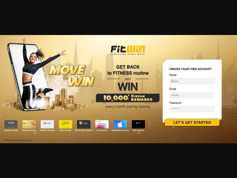 FitWin - CC Submit - AE - Sweepstakes - Responsive