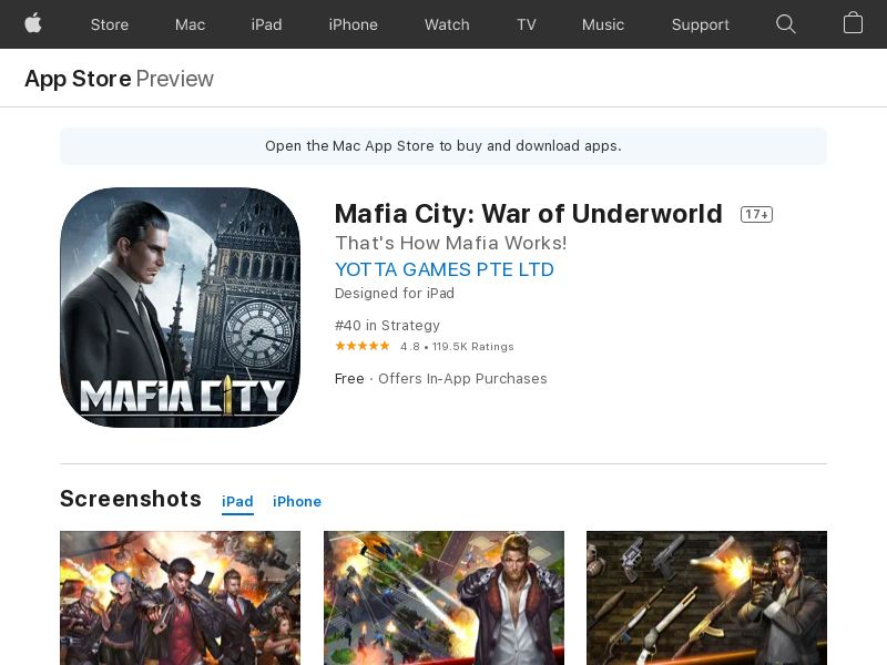 Mafia City - iOS (US) (CPE) (Incent) (Personal Approval)
