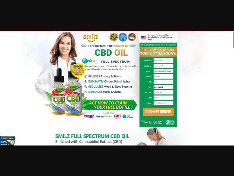 Smilz Full Spectrum CBD Oil - CBD - SS - [US]