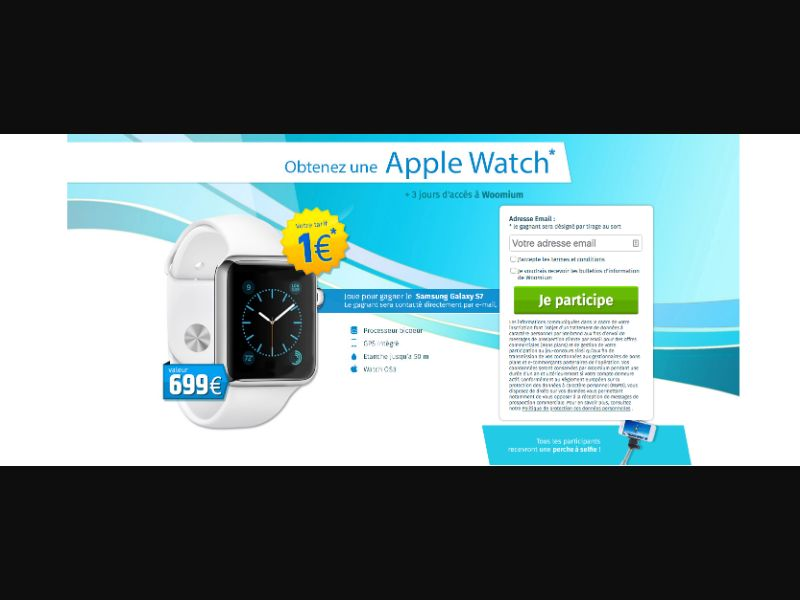 Apple Watch - CC Submit - BE - FR - Sweepstakes - Responsive