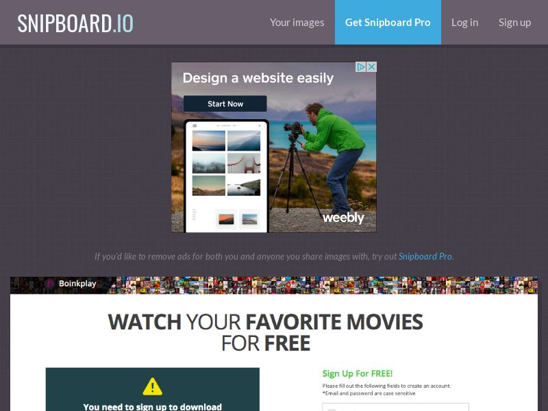 BoinkPlay - VOD Movies AU - CC Submit