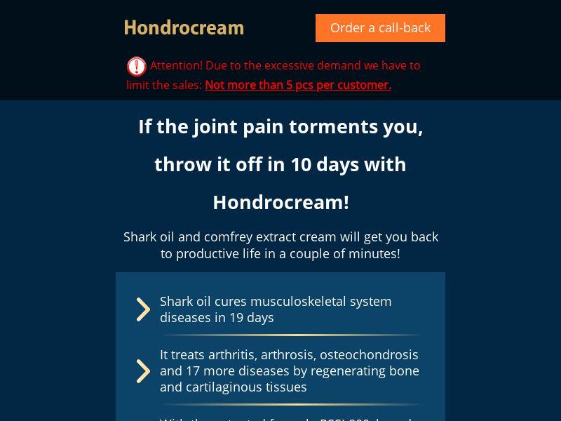 Hondrocream SG - arthritis product