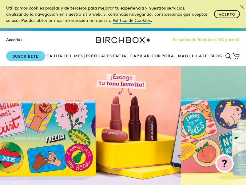 Birchbox - ES (ES), [CPA], Health and Beauty, Cosmetics, Sell, coronavirus, corona, virus, keto, diet, weight, fitness, face mask