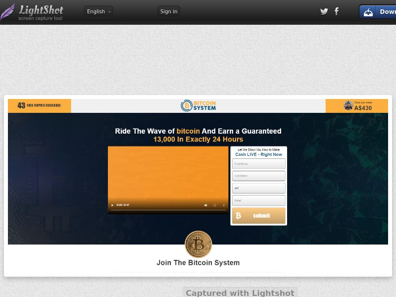 Bitcoin System (IE, AU, IS, NZ, UK) (CPL) (Personal Approval)