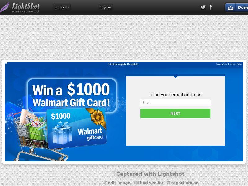 US |SOI | Win a walmart gift card