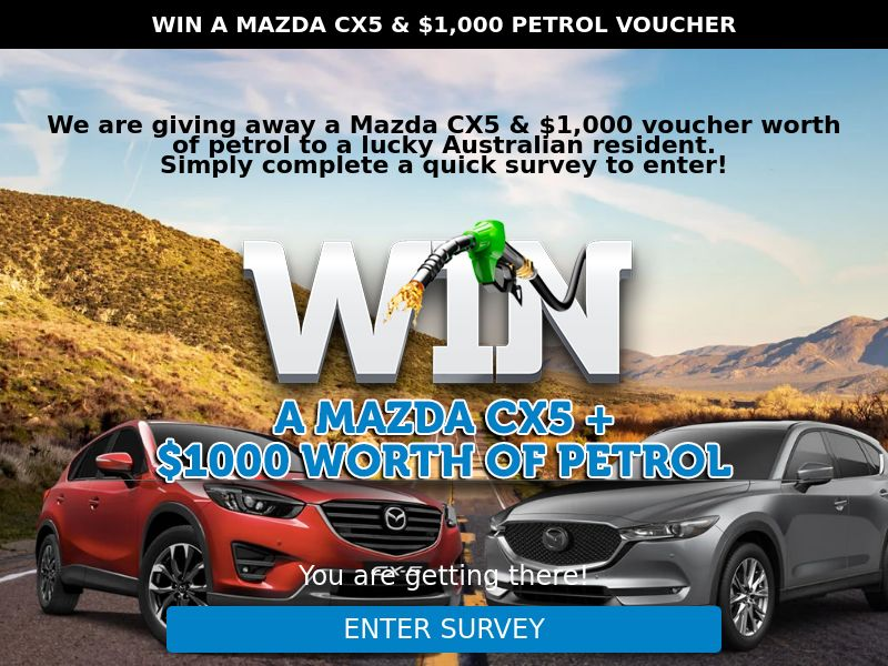 Win A Mazda CX5 (Email Submit) - AU