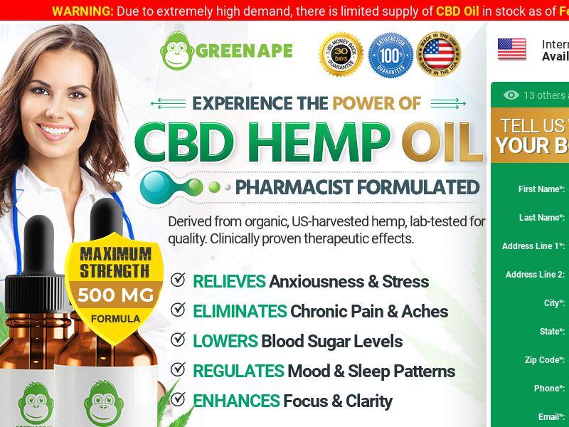 Green Ape cbd Oil (CPA) (US)