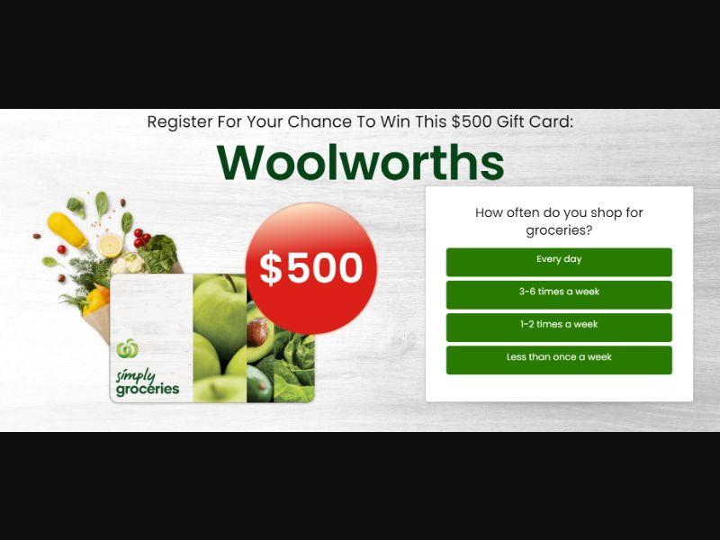 AU - Win Gift Cards [AU] - SOI registration