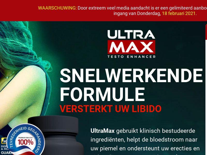 UltraMax Testo Enhancer LP01 (DUTCH)