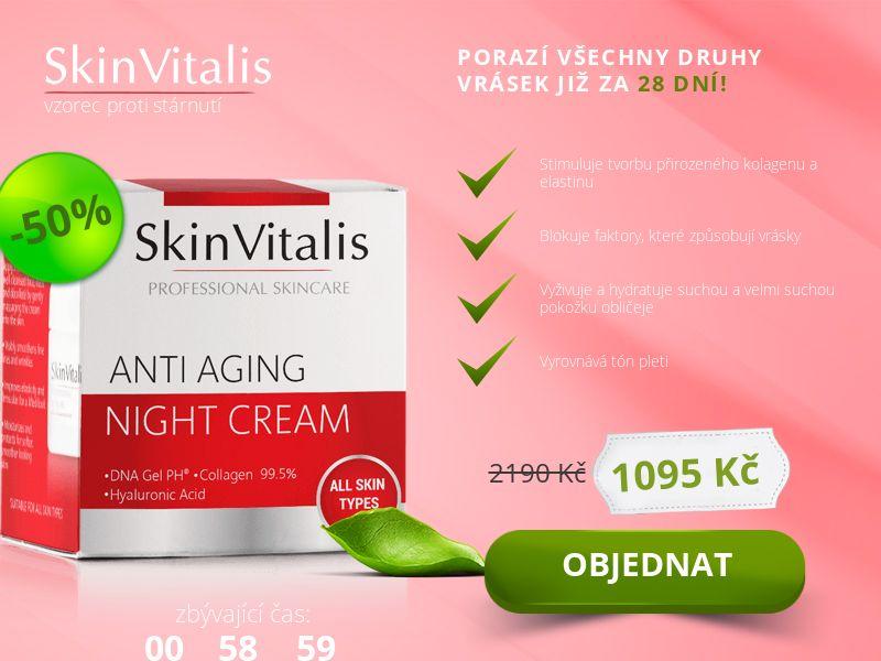 Skin Vitalis: Skincare - 19€ - COD - Desktop & Mobile [CZ]