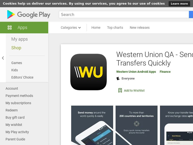 Western Union - Android (QA) (CPR) (GAID) (App Name) (No Rebrokering)