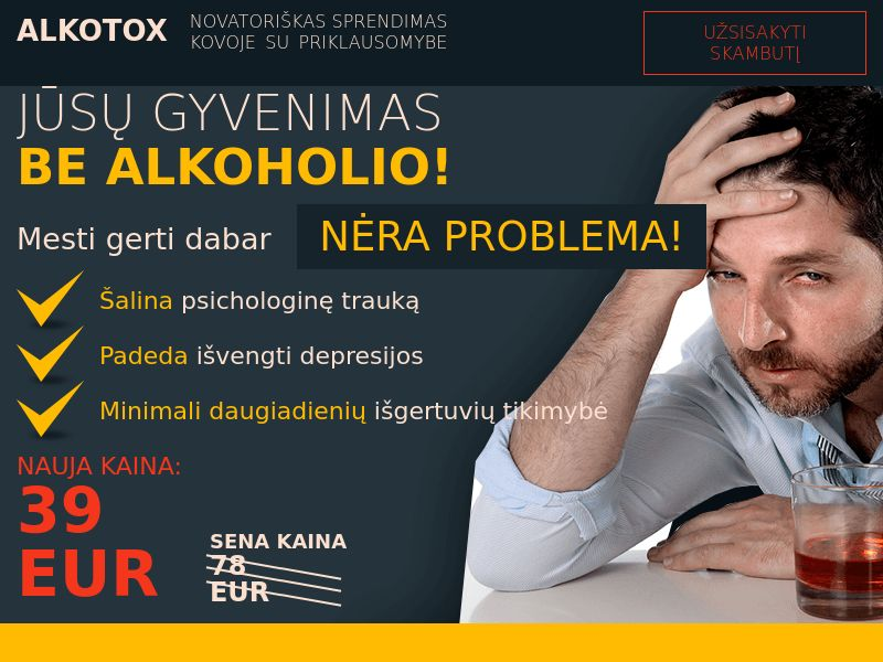 ALKOTOX LT - alcoholism treatment product