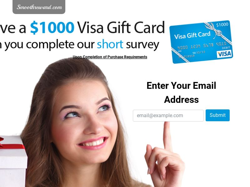 $1000 Visa Giftcard (US) (CPL) (Personal Approval)