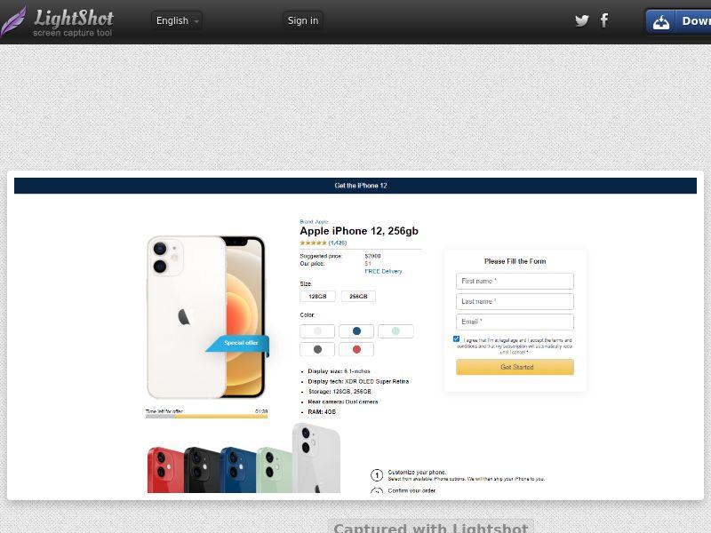 Socialmediago - iPhone12 - Shop LP (NZ) (Trial) (Personal Approval)