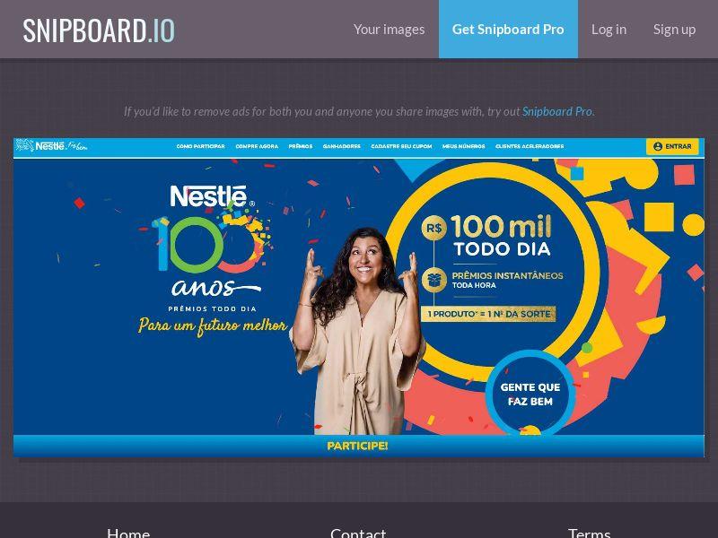 39983 - BR - Sweeps - Nestle Promo 100 Anos - SOI