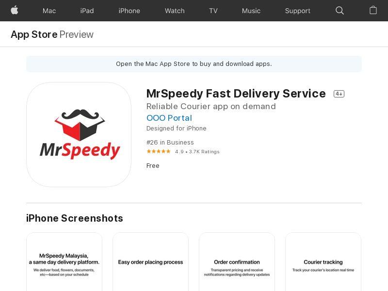 MrSpeedy Fast Delivery Service MY CPI IOS (non-incent) *KPI/APPNAME/IDFA