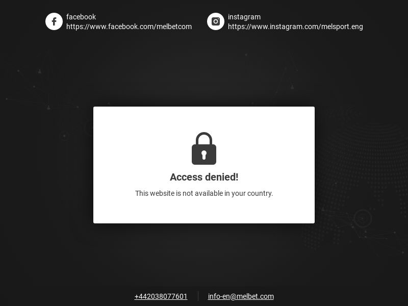 Melbet | RS (no fees) | Global