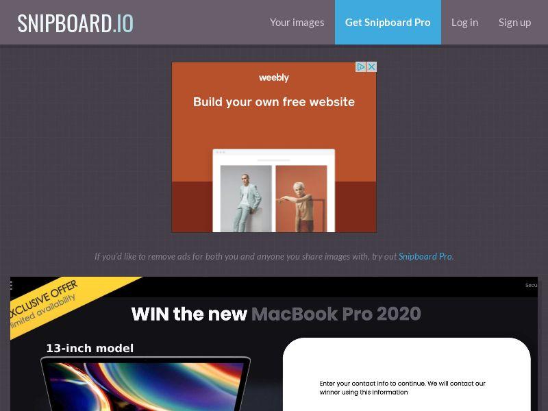 YouSweeps - Macbook Pro 2020 US - SOI
