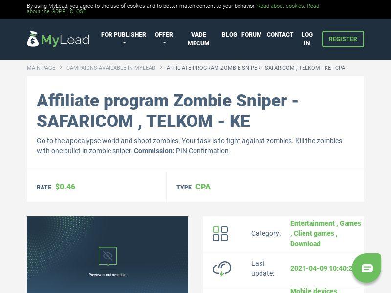 Zombie Sniper - SAFARICOM , TELKOM - KE (KE), [CPA]