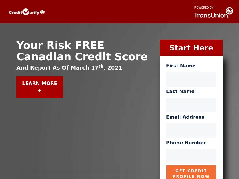 Trial - Credit Verify $1 [CA] (Native,Social,Banner,Email) - CPA