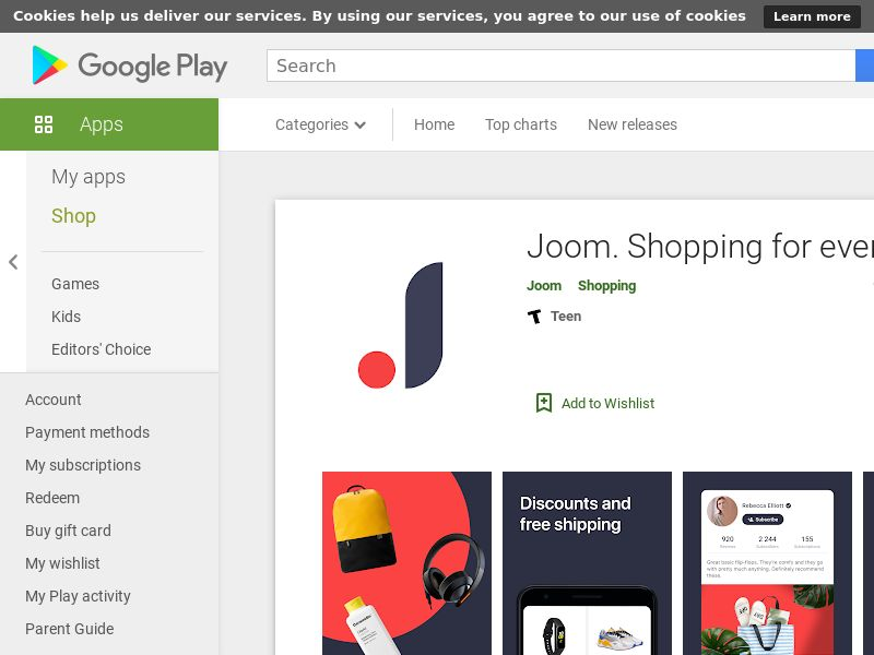 Joom [Android] DE, FR +21