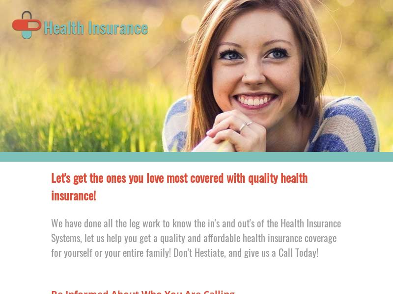 Health Insurance Coverage - Pay Per Call