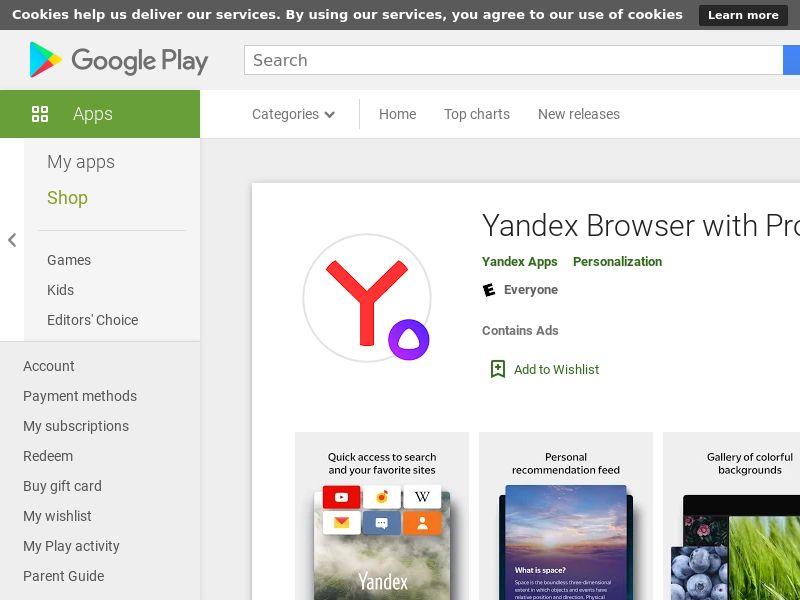 Yandex Android RU **HOT