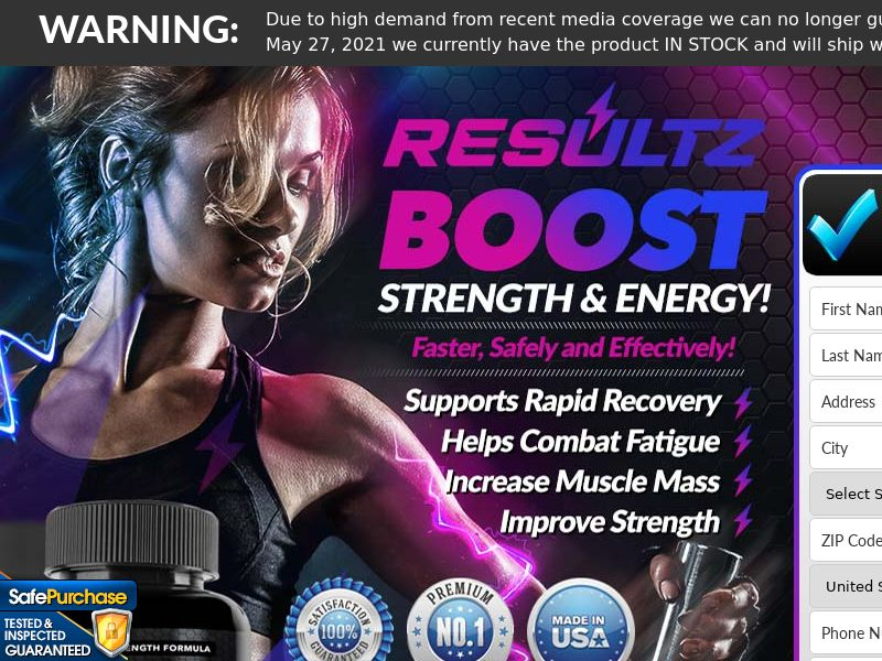 Resultz Energy Burner (Trial W/1 Click Upsell) (US) (SMS Allowed) (Survey Allowed) (50% Rebill Required)