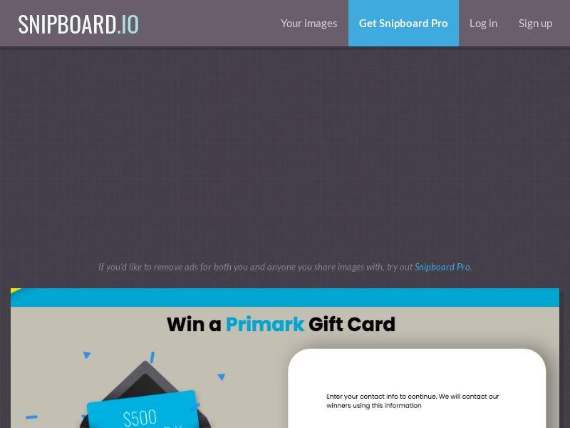 YouSweeps - Primark Giftcard US - SOI