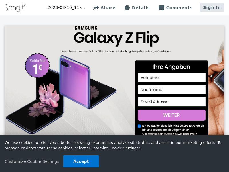 Samsung Z Flip - CC - DE (DE), [CPA]