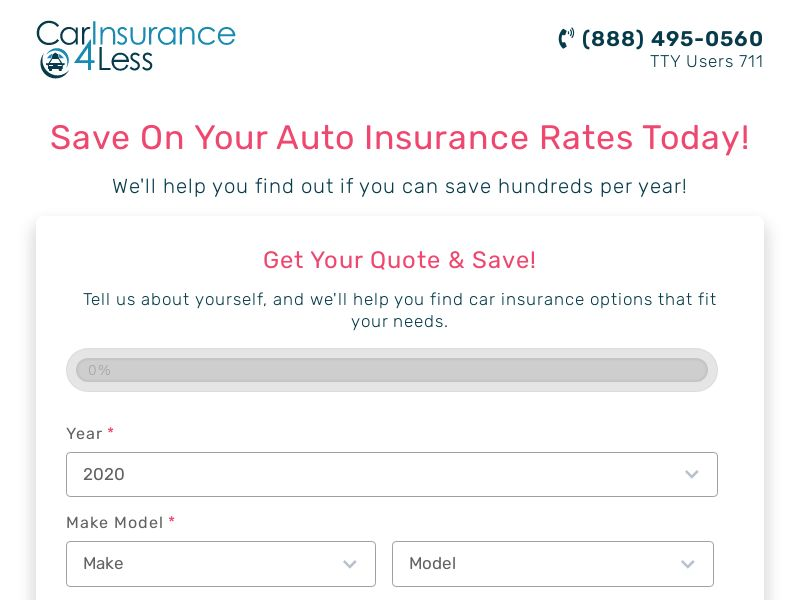CarInsurance4Less (CPL) (US) (SMS ALLOWED)