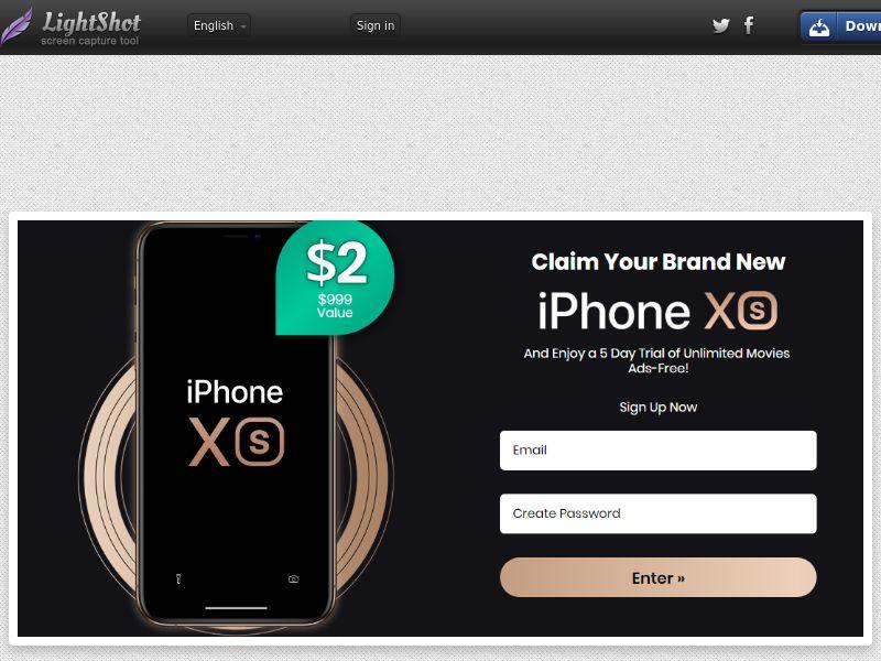 Combo Popcorn Win iPhone Xs Black Bonus (Sweepstakes) (CC Trial) - HongKong