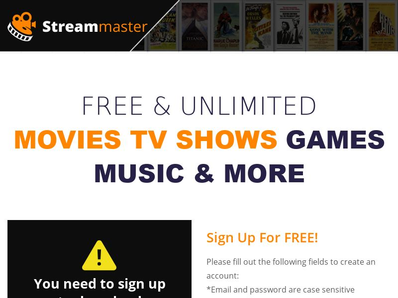 StreamMaster - Get Unlimited Movies, TV Shows, Games & Music! - INCENT - AU, CA, ES, UY