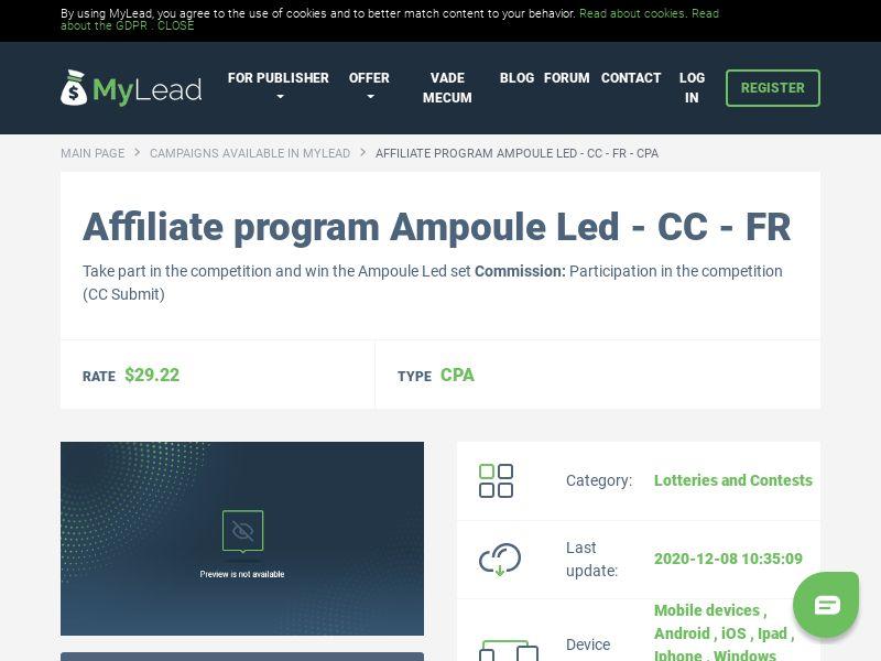 Ampoule Led - CC - FR (FR), [CPA]